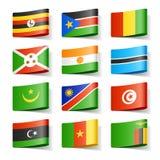 De vlaggen van de wereld. Afrika. Royalty-vrije Stock Foto's