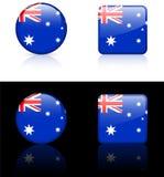 De Vlaggen van de wereld: Australië Stock Foto