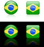 De Vlaggen van de wereld: Brazilië Stock Afbeelding