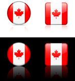De Vlaggen van de wereld: Canada Royalty-vrije Stock Foto