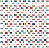 De vlaggen van de wereld die op wit worden geïsoleerdr Stock Foto