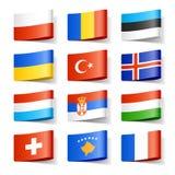 De vlaggen van de wereld. Europa. Royalty-vrije Stock Foto's