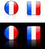 De Vlaggen van de wereld: Frankrijk Royalty-vrije Stock Foto's