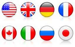 De Vlaggen van de wereld: G8 landen Stock Foto