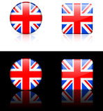 De Vlaggen van de wereld: Het Verenigd Koninkrijk Stock Foto's