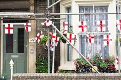 De vlaggen van Engeland Stock Afbeelding