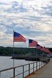 De Vlaggen van Gloucester Stock Foto's