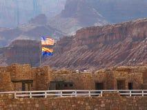 De Vlaggen van het Centrum van de bezoeker stock afbeelding