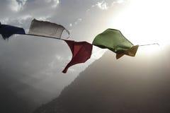De vlaggen van het gebed Stock Afbeelding