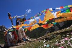 De vlaggen van het gebed Stock Foto