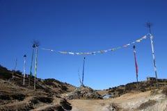 De vlaggen van het gebed en gebedstenen Royalty-vrije Stock Foto