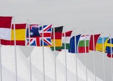De Vlaggen van het land Stock Afbeeldingen