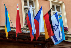 De vlaggen van het land Stock Foto's