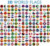 De Vlaggen van het land van de Wereld Stock Afbeeldingen