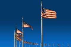 De Vlaggen van het Monument van Washington Stock Afbeeldingen