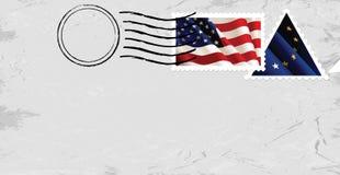 De vlaggen van het poststempel & van de Zegel Royalty-vrije Stock Foto