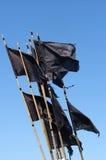 De vlaggen van het signaal stock foto