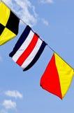 De vlaggen van het signaal Stock Foto's