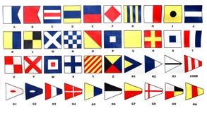 De vlaggen van het signaal Stock Fotografie