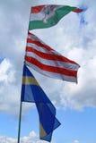 De vlaggen van Hongaar en Sekler- Royalty-vrije Stock Foto
