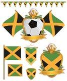 De vlaggen van Jamaïca Royalty-vrije Stock Afbeeldingen
