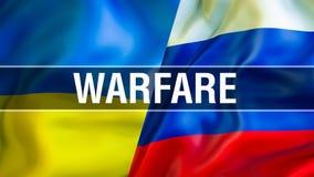 De vlaggen van de Oekraïne en van Rusland E Ukrai royalty-vrije illustratie