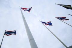 De vlaggen van Thailand Royalty-vrije Stock Afbeeldingen