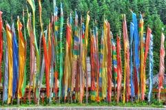De vlaggen van Tibet Stock Afbeelding