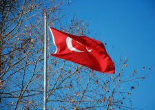 De vlaggen van Turkije Stock Foto