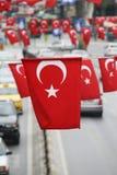 De vlaggen van Turkije stock foto's