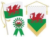 De vlaggen van Wales vector illustratie