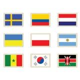 De vlaggen van zegels Royalty-vrije Stock Afbeeldingen