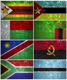 De vlaggen van Zuid-Afrika Royalty-vrije Stock Afbeeldingen