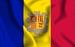 De vlagillustratie van Andorra vector illustratie