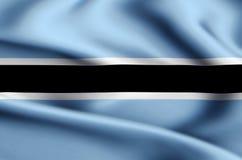 De vlagillustratie van Botswana vector illustratie