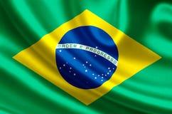 De vlagillustratie van Brazilië vector illustratie