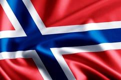 De vlagillustratie van Noorwegen royalty-vrije illustratie