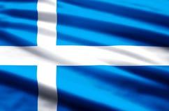 De vlagillustratie van Shetland vector illustratie