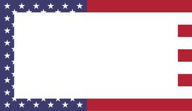 De vlagkader van de Verenigde Staten van Amerika royalty-vrije illustratie