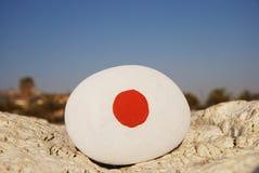 De vlagkleuren van Japan op een steen Royalty-vrije Stock Foto