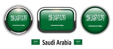 De vlagknopen van Saudi-Arabië vector illustratie