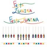 De de vlaglantaarn van Festajunina hangt reeks royalty-vrije illustratie