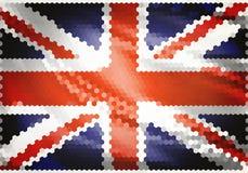 De vlagmozaïek van het Verenigd Koninkrijk Stock Afbeelding