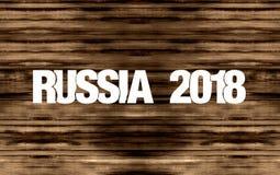 2018 de Vlagontwerp van Rusland Royalty-vrije Stock Foto