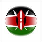 De vlagpictogram van Kenia in de vorm van een bal stock afbeelding
