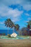 De vlagpool van de Ranwadischool Royalty-vrije Stock Fotografie