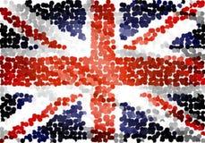 De vlagpunten van het Verenigd Koninkrijk Stock Afbeeldingen