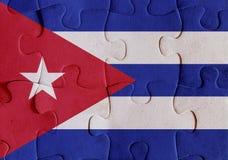 De vlagraadsel van Cuba vector illustratie