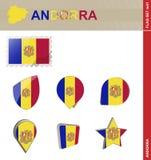 De Vlagreeks van Andorra, Vlag Vastgestelde #41 vector illustratie