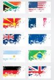 De vlagreeks van Grunge Royalty-vrije Stock Afbeelding